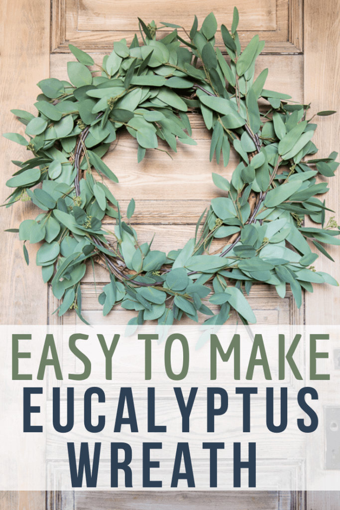 Make this gorgeous faux eucalyptus wreath for spring, summer or all year long. This wreath takes less than 10 minutes to make and looks amazing! The best part is you can disassemble and change it out for different seasons. It is a great budget friendly way to have gorgeous wreaths in your home!