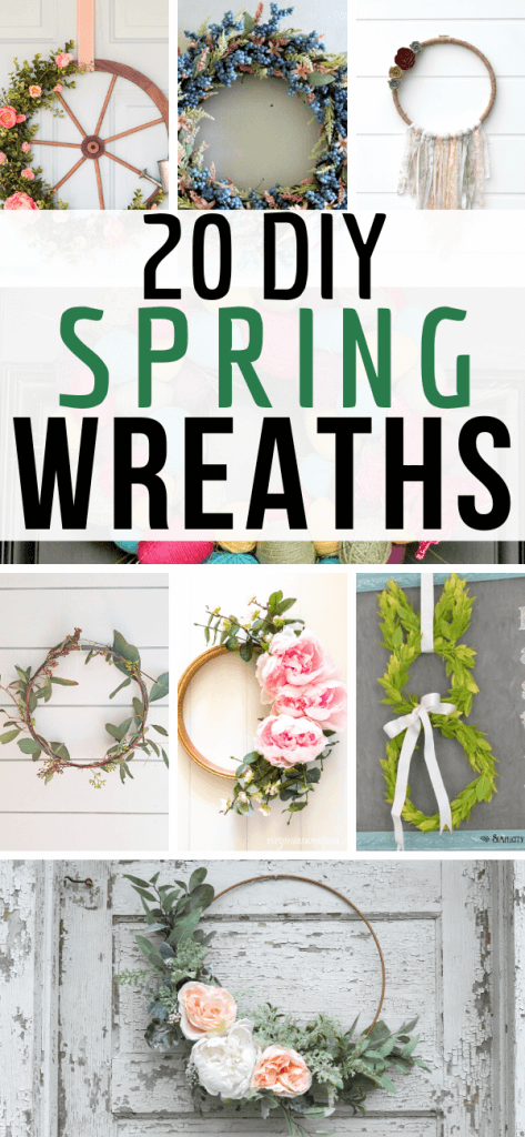 20 gorgeous and easy to make DIY wreaths for spring as well as Easter wreaths and more!  Be inspired and make some of your own! They are so easy!