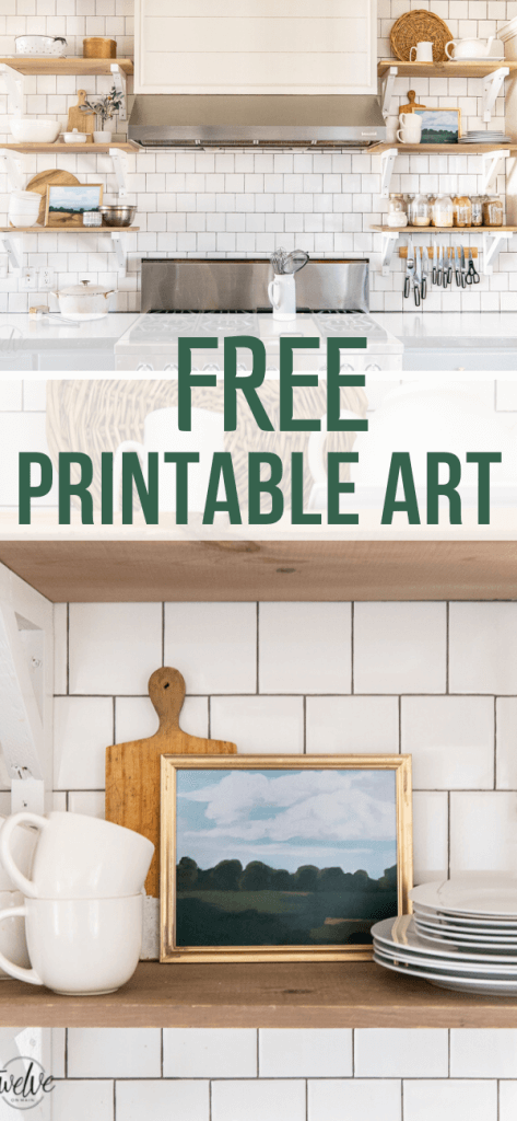 Gorgeous FREE printable art that is perfect for your home! Get these hand painted landscape art printables and give your home some style. These are amazing! Plus they are FREE!