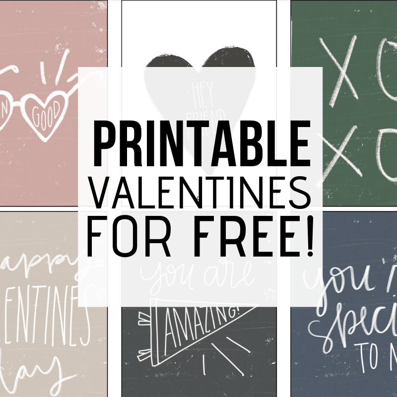 Super Cute FREE Printable Valentines Cards