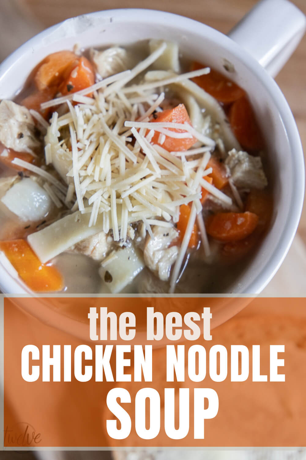 Amazing homemade chicken noodle soup recipe that is super easy to make and tastes so amazing!