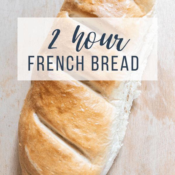 Easy French Bread Recipe in Under 2 Hours