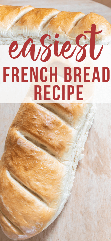 How to make the easiest french bread recipe ever! This is perfect for garlic bread, french toast and more! Did I mention how inexpensive it is to make?