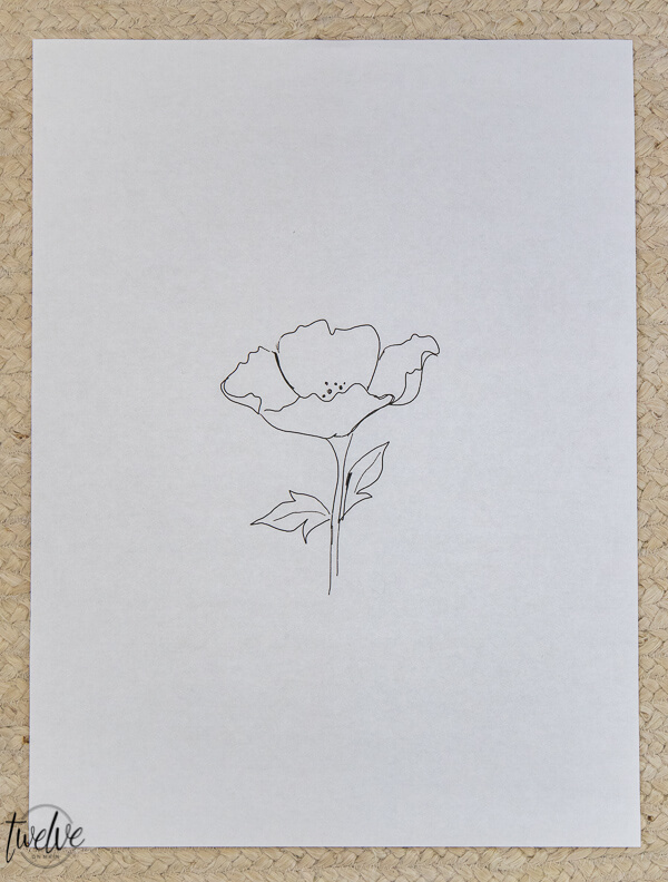 6 Floral sketch printables available for FREE!