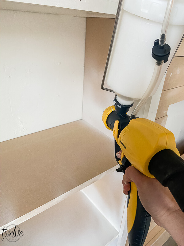 How to use a Wagner paint sprayer to paint office bookshelves
