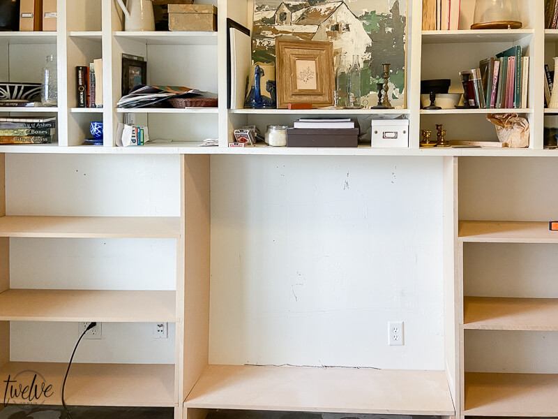 Office bookshelf makeover! Come see the final reveal!! its amazing!