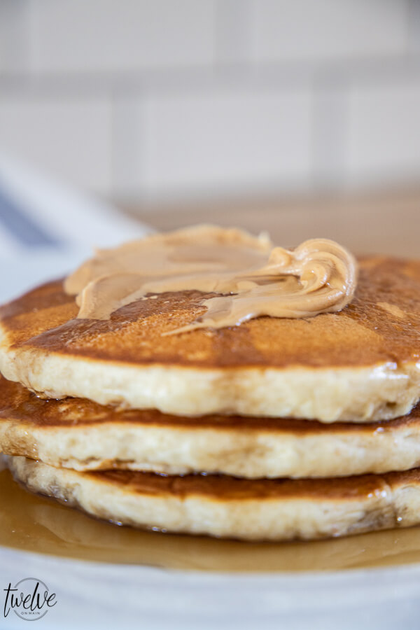 Amazing fluffy and light sourdough pancakes! Get the recipe now! Learn to make a sourdough starter and start making these now. You will never want regular pancakes again, and they are so easy!