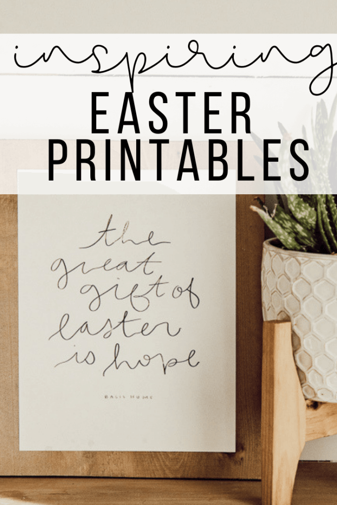 Get these inspiring Easter printables for FREE!  Hand drawn and painted!  These are the perfect sweet addition to your Easter celebration and decor.