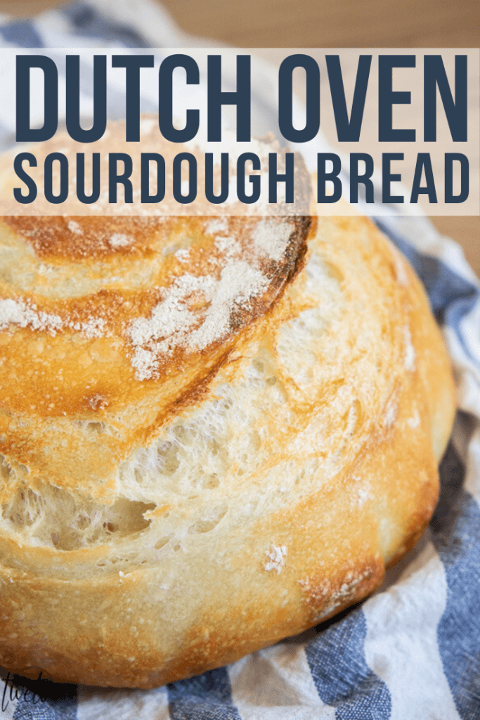 How to make an amazing dutch oven sourdough bread or sourdough boule! This has step by step instructions that make it really easy to plan your time and you will realize how easy it is to make!