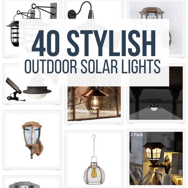 40 Stylish Solar Lighting for Outdoors