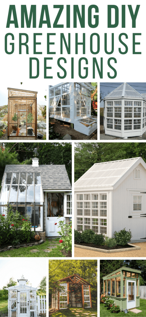Need some gardening inspiration?  Check out these amazing greenhouse designs that can be built yourself or purchased as well!  There are so many options available, you can make it your own, use ideas from all of them and combine them!