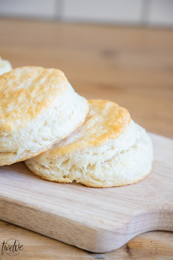 Yummy flakey biscuits using my sourdough starter discard! These are so easy to make and so very good!