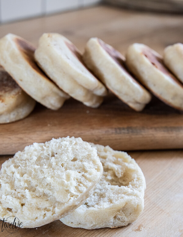 How to successfully make amazing sourdough English muffins with all those nooks and crannies! This recipe has great step by step instructions! And they are so much easier than I thought!