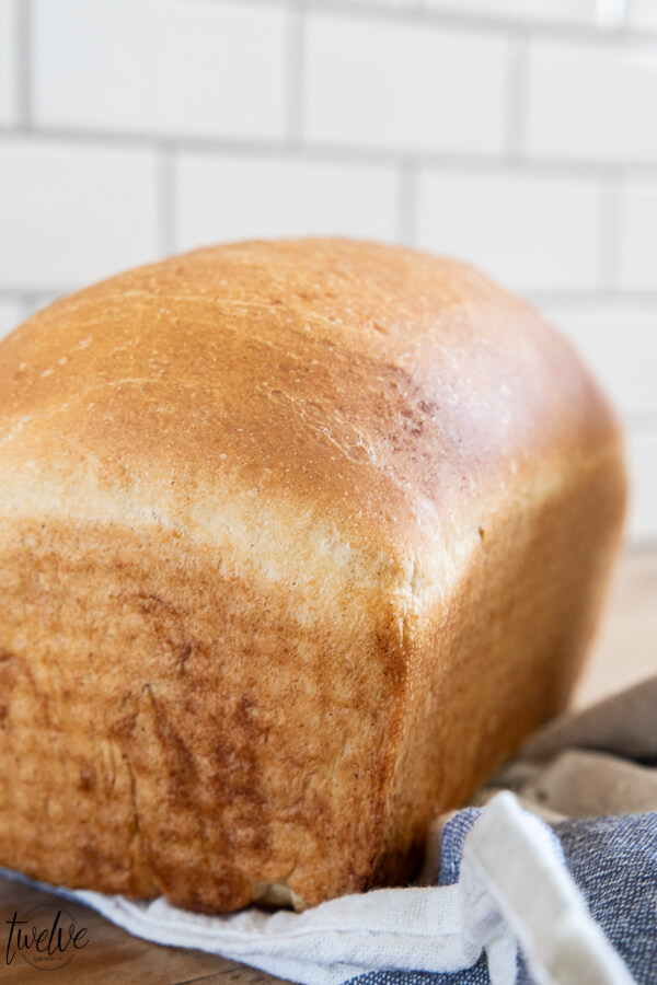 Yummy sourdough sandwich bread! This sourdough bread is so easy to make, delicious, and takes less time than traditional sourdough bread recipes. This sourdough bread makes the most amazing grilled cheese or grilled panini sandwiches, amazing toast or french toast, and of course, sandwiches! The flavor is amazing, you will want to eat the entire loaf, and it takes less than 2 hours!