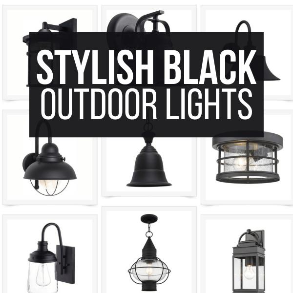 Over 60 Stylish Black Outdoor Lighting Fixtures