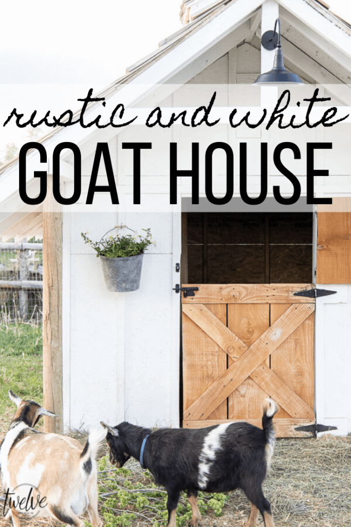 Check out this amazing simple and stylish white and rustic goat house! Looking for goat shed ideas?