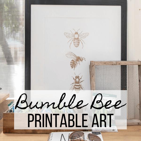 FREE Bumble Bee Printable Art
