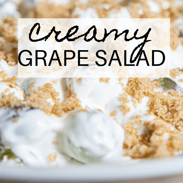 5 Ingredient Creamy Grape Salad