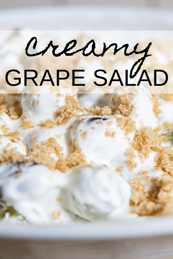 This 5 ingredient recipe is one of my favorites! Check out this fresh and creamy grape salad! It is perfect for the summer, a BBQ or just as a snack!!