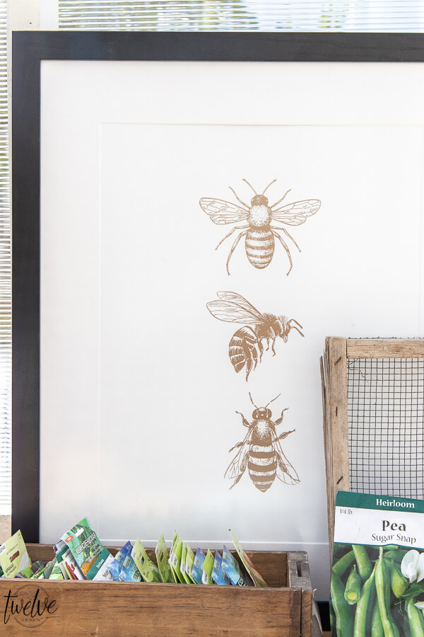 Get this adorable bumble bee printable art for FREE!  This is the perfect artwork to add to your home for the summer!