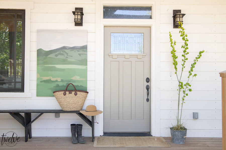 Front Porch Decor Using Artwork