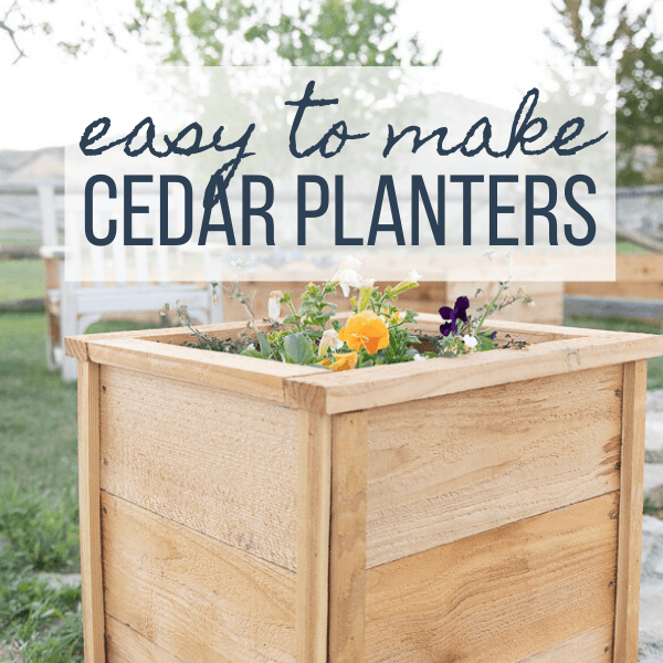 How to Make Easy DIY Cedar Planter Boxes