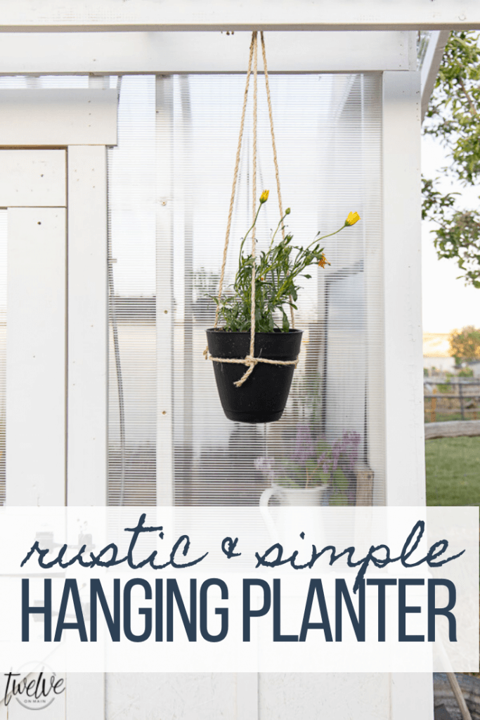 How to make a super simple and easy DIY hanging planter inspired by some I saw on an episode of Outlander!  These are gorgeous and inexpensive too!