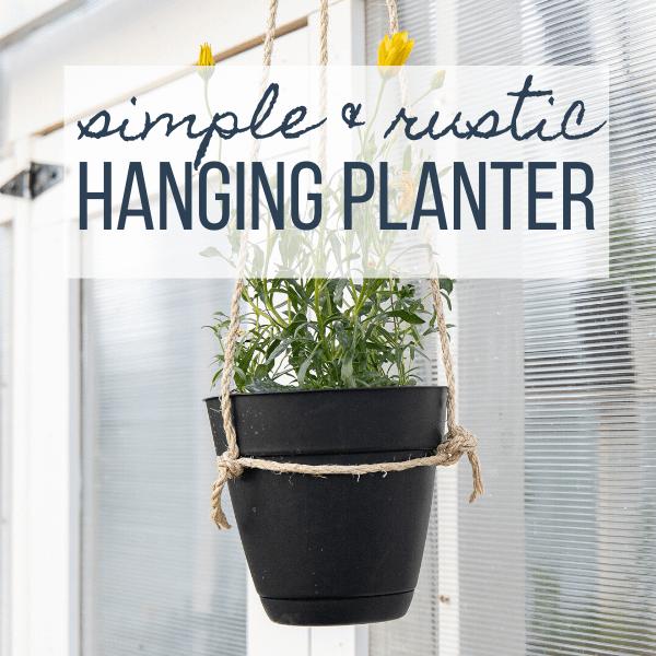 Super Easy DIY Hanging Planter