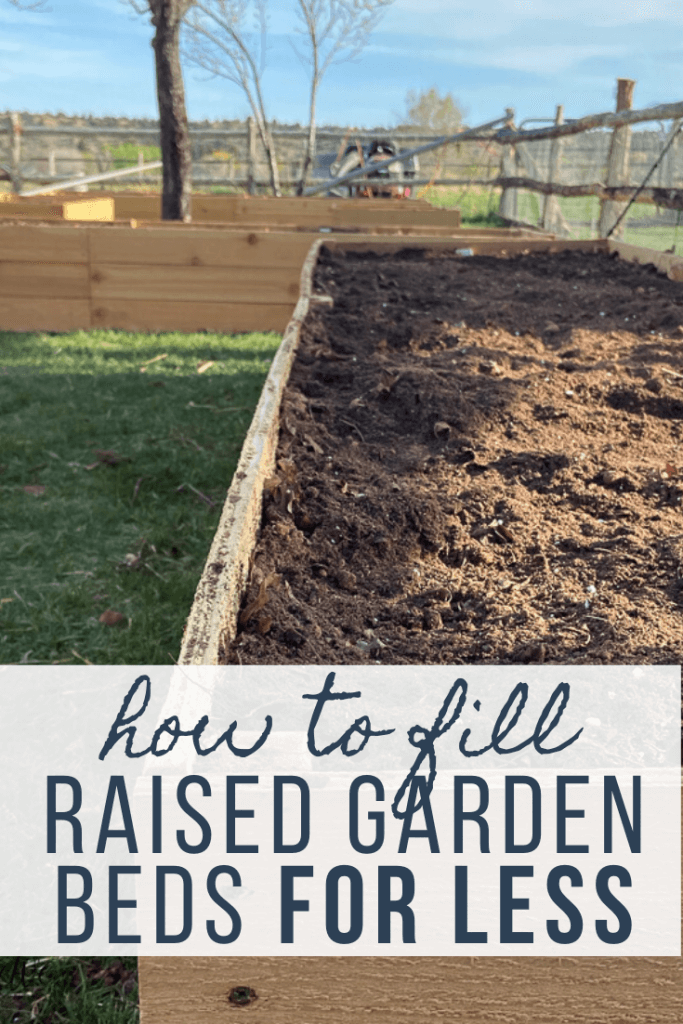 How to fill a raised garden bed cheap and make your soil go further! Its easier and so inexpensive and in the end you will have nutrient rich garden soil!