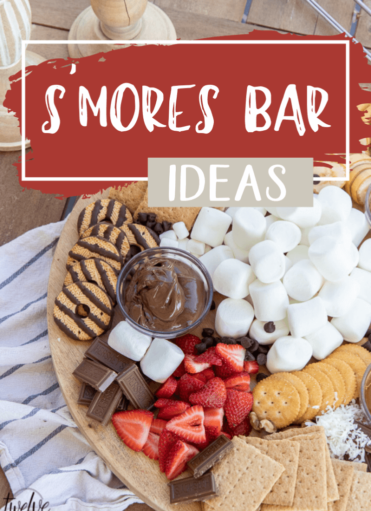 Make a fun s'mores bar for that is perfect for entertaining a group or for simple night with the family.  This s'mores bar gives everyone options and makes it easy to make any kind of s'mores you can dream of!