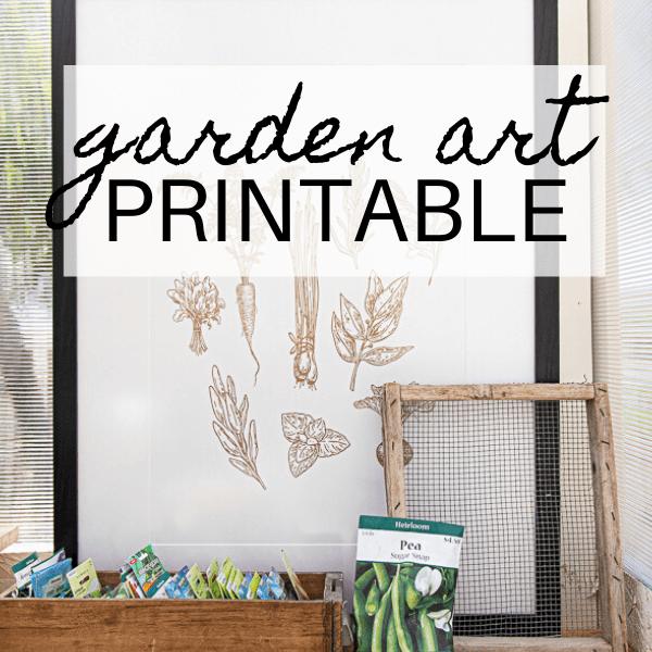 New Garden Art Printable