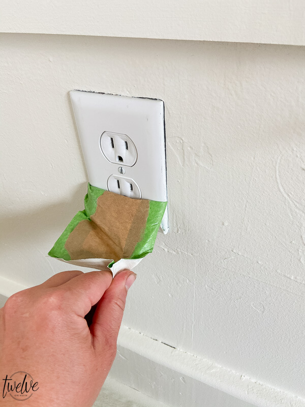 How to paint around outlets using a paint sprayer