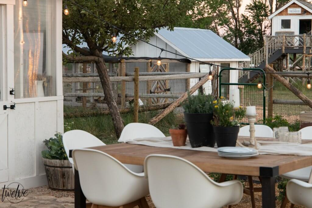How about creating an outdoor dinner party nestled in the garden, with a gorgeous greenhouse as a backdrop and place to keep the food. Check out this amazing outdoor dining experience and more outdoor dining ideas!