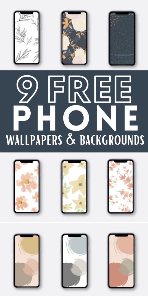 Get these 9 free phone wallpapers and backgrounds! Can be used for iPhones, iPads, and more!  These are stylish and are perfect for customizing your phone!