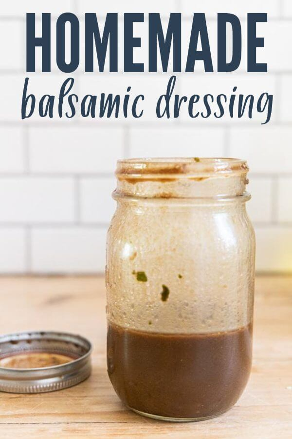 Flavorful and easy to make homemade balsamic dressing that can be used for salads, dip for bread, and even a marinade for chicken.