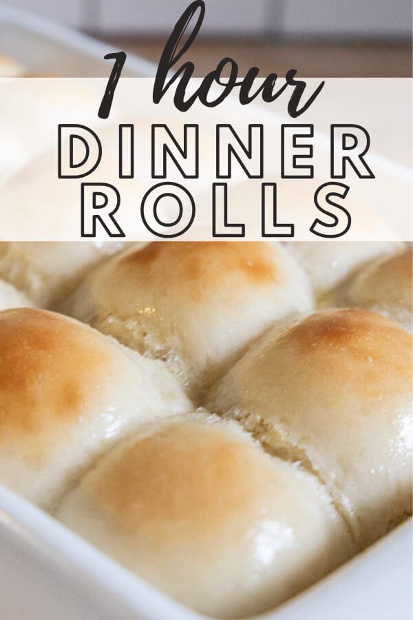 Amazingly soft and buttery 1 hour dinner rolls! Yes its true, and they are my kids favorite! Get my one hour dinner rolls recipe right now!