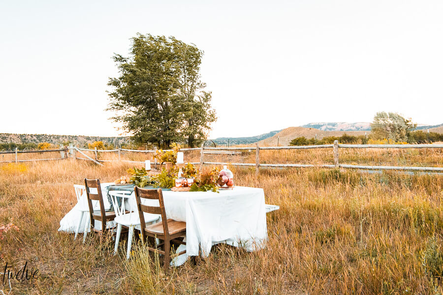 Gorgeous and Simple Outdoor Fall Table Decor