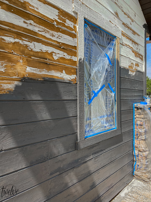 How to paint a house using a paint sprayer. How to prep the surface and paint like a pro.