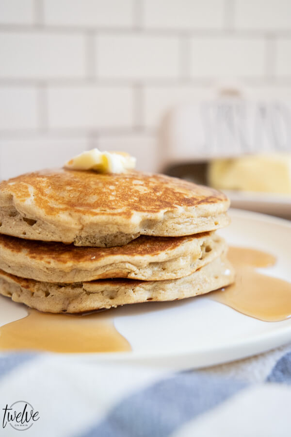 Try this amazing light and fluffy oatmeal pancakes recipe! These have amazing flavor, are hearty and very filling!