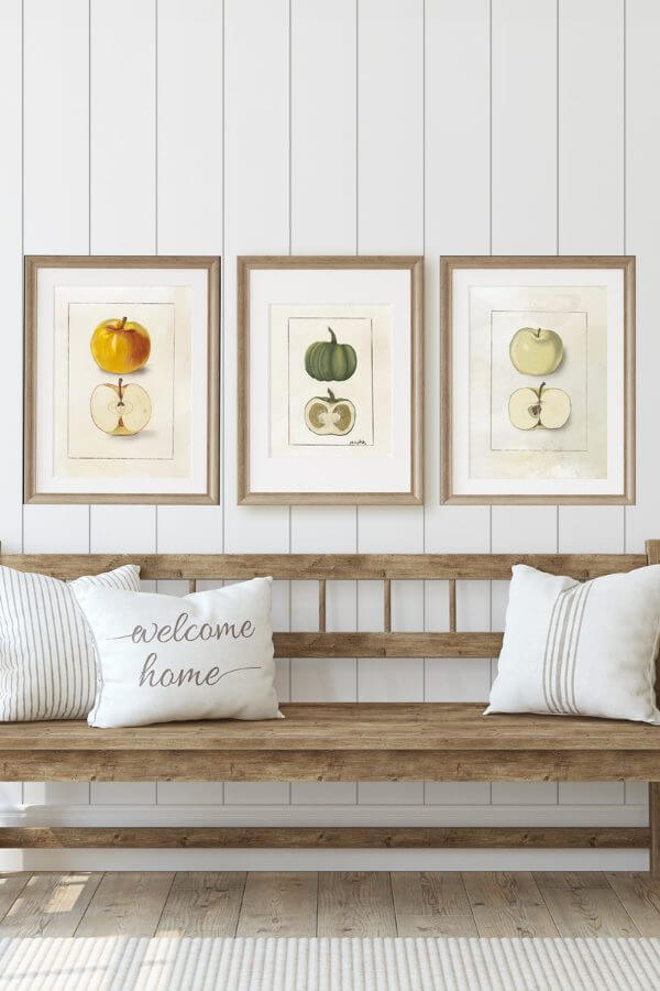 New Apple and Pumpkin Fall Printable Art For You!