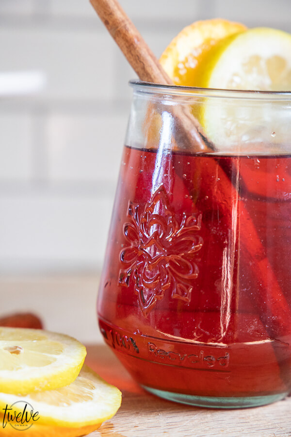 This wassail recipe with cranberry juice and essential oils is so easy to make, tastes amazing, and will have your friends asking the recipe!