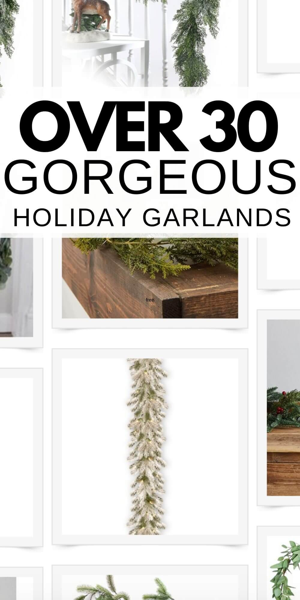 Hard to find beautiful faux garland? No fear! I have over 30 gorgeous artificial garland options for your home to use this holiday season!