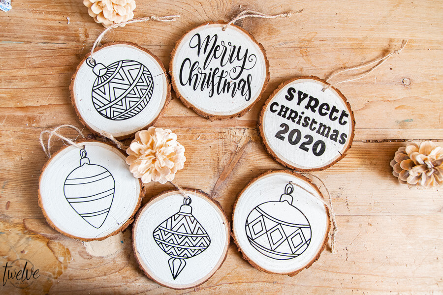 How to make wood round Christmas ornaments using the Circuit Maker
