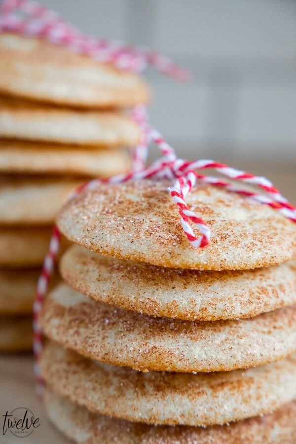 The perfect cookie to share at Christmas time.  These cinnamon cookies are so soft and fluffy and taste amazing!