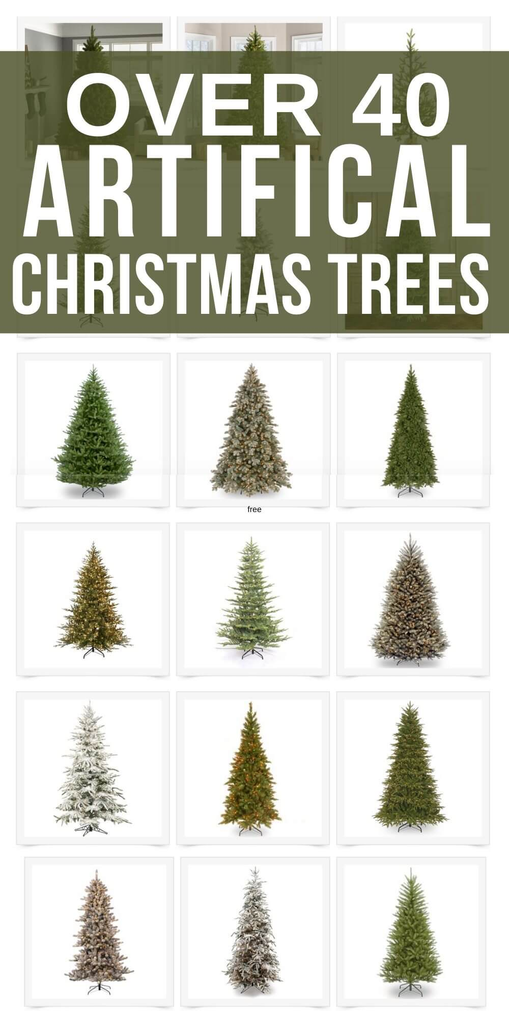 Over 40 Affordable and Gorgeous Artificial Christmas Trees