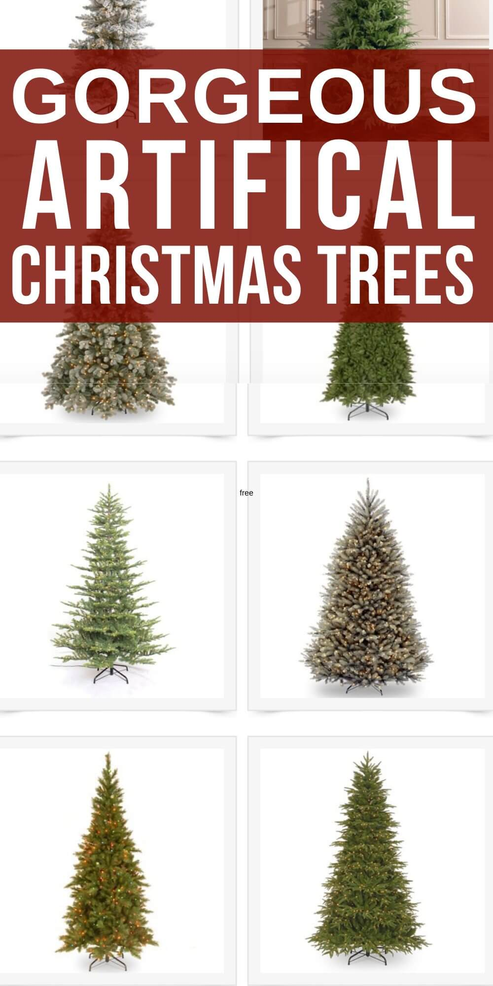 Are you looking for just the right artificial Christmas tree for you home? One that is gorgeous and also affordable? Check this collection out! There are so many amazing options.