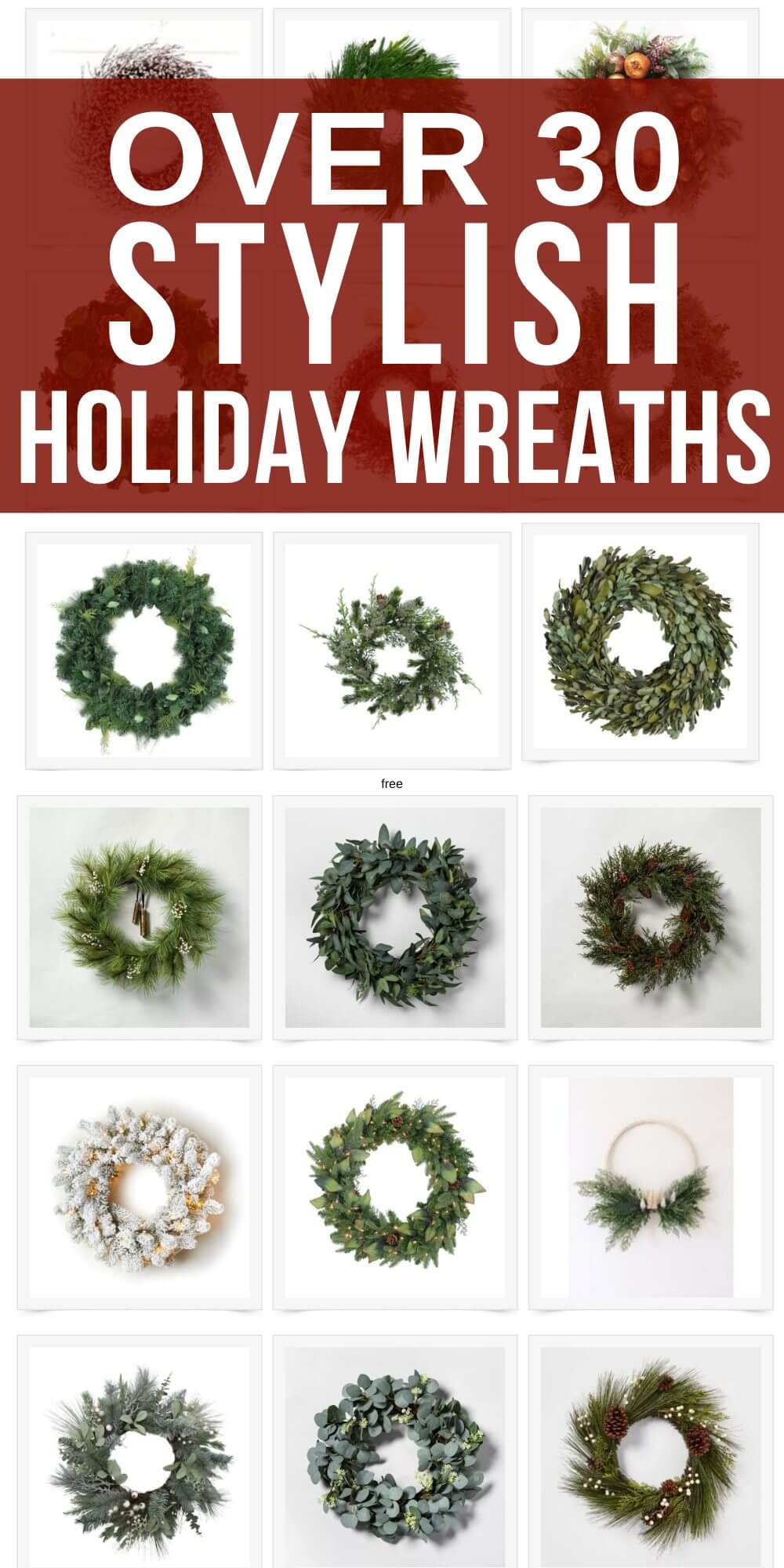 Save your time.  I have done the work, shopped the websites, and now you can check out gorgeous, affordable holiday wreaths.  I have picked my favorite Christmas wreaths and now you can find yours!