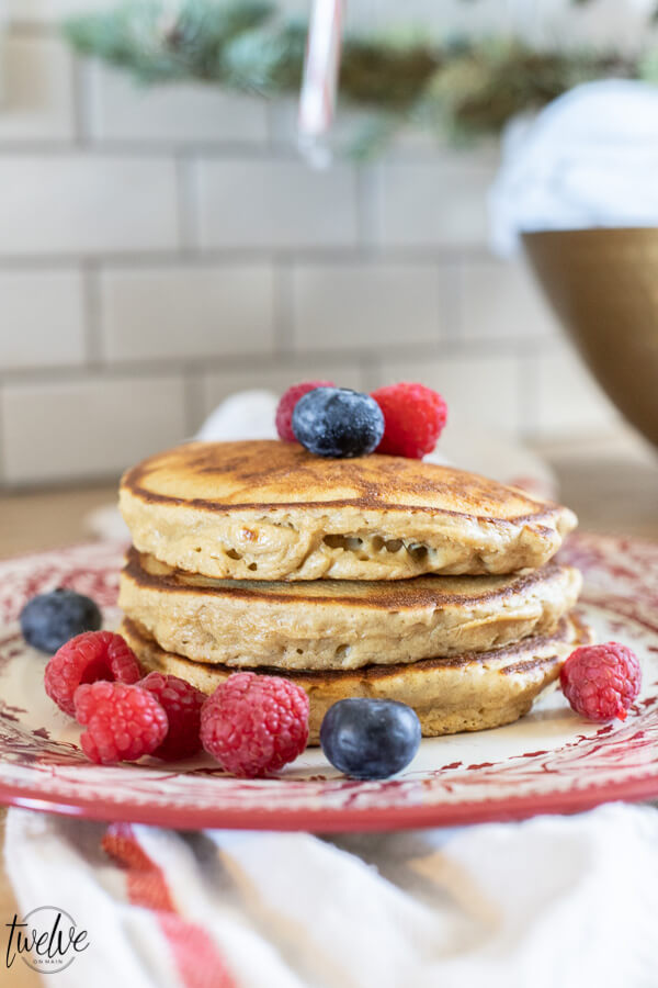 Light and Fluffy Banana Oatmeal Pancakes, Low Fodmap and Gluten Free