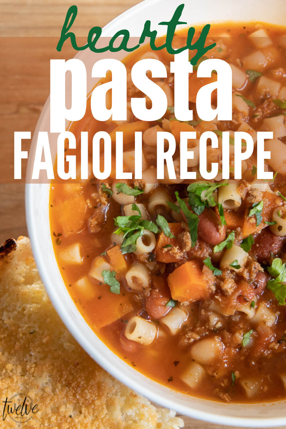 Try my amazing hearty and flavorful pasta fagioli recipe! This is healthy, and has so many yummy textures and the flavor is perfect!