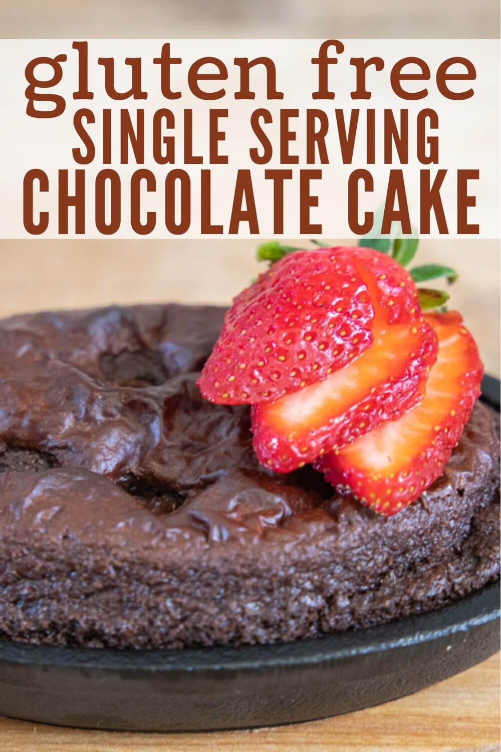 Amazing gluten free chocolate cake made with simple kitchen ingredients. These also uses individual mini cakes perfect for entertaining or to make for someone that cant have traditional cake. This is an amazing option!